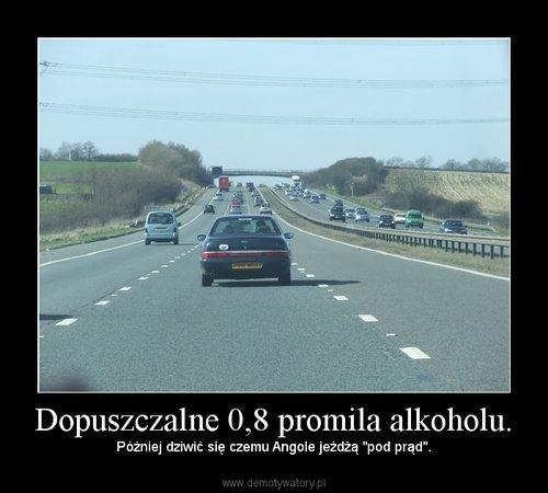 Dopuszczalne 0,8 promila alkoholu.