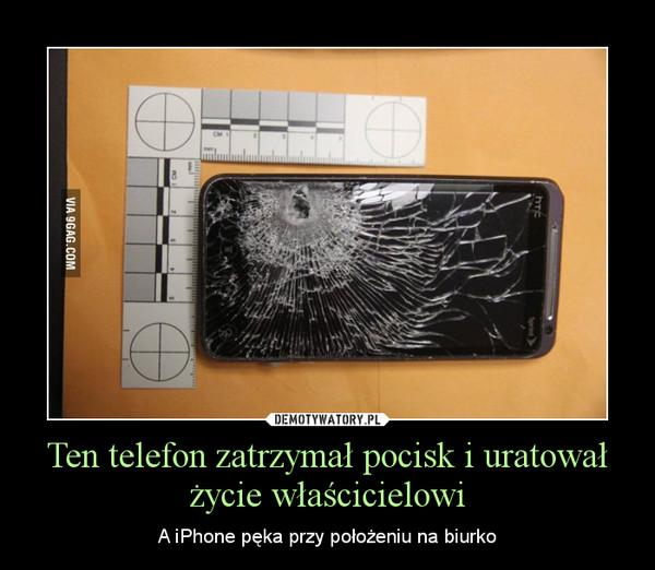Ten telefon zatrzymał pocisk i uratował życie właścicielowi – A iPhone pęka przy położeniu na biurko