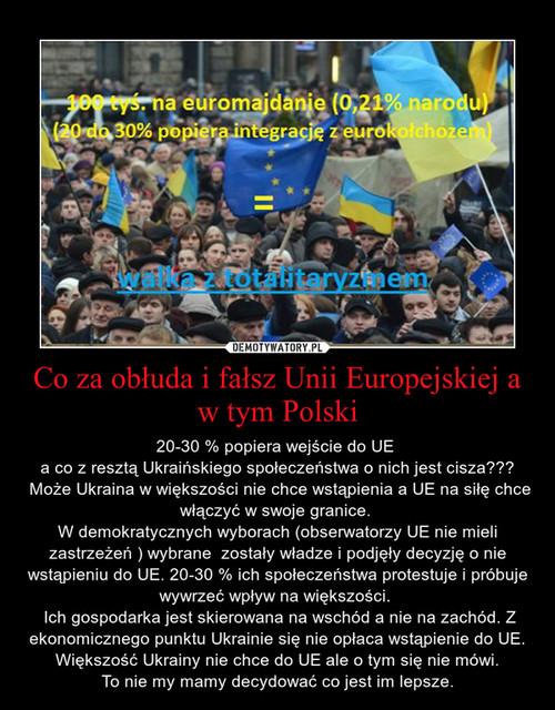 Co za obłuda i fałsz Unii Europejskiej a w tym Polski