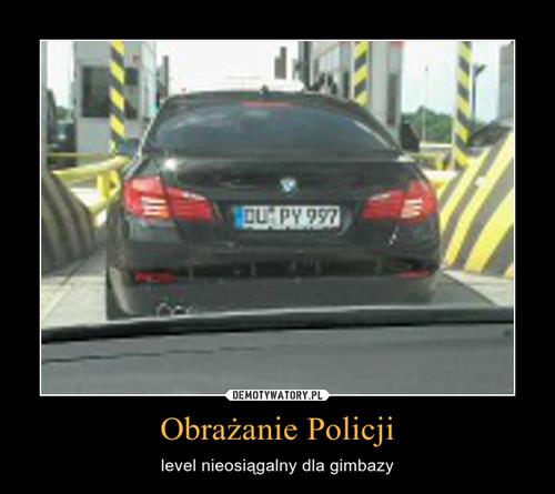 Obrażanie Policji