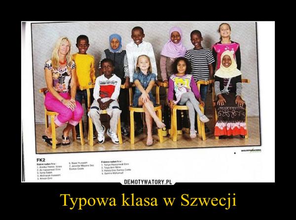 Typowa klasa w Szwecji –
