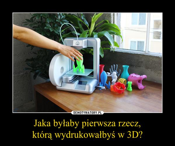 Jaka byłaby pierwsza rzecz,którą wydrukowałbyś w 3D? –