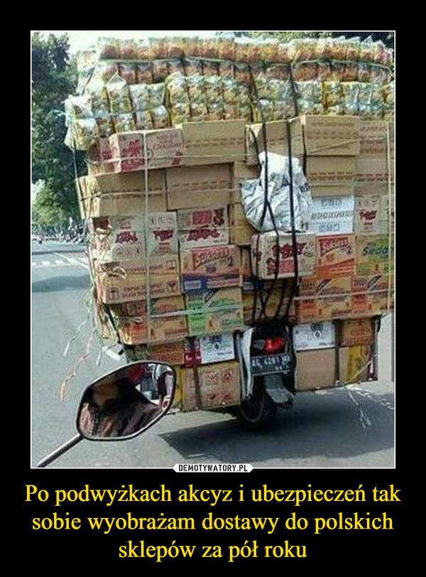 Po podwyżkach akcyz i ubezpieczeń tak sobie wyobrażam dostawy do polskich sklepów za pół roku –