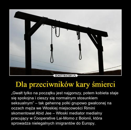 Dla przeciwników kary śmierci