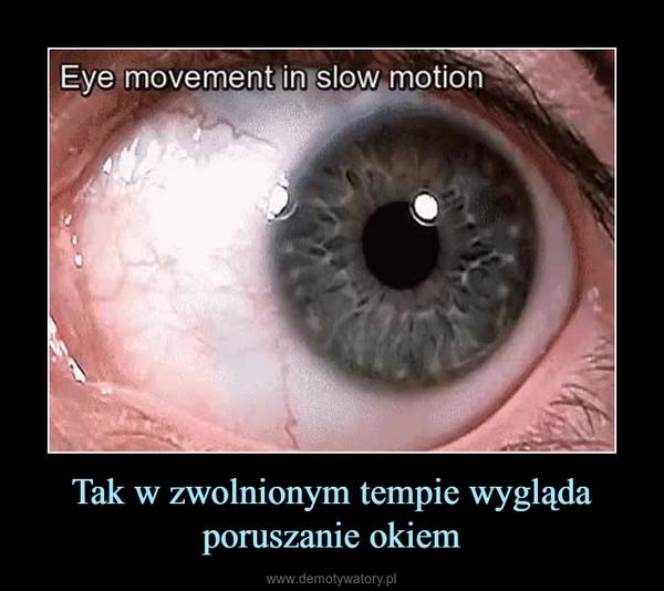 Tak w zwolnionym tempie wygląda poruszanie okiem –