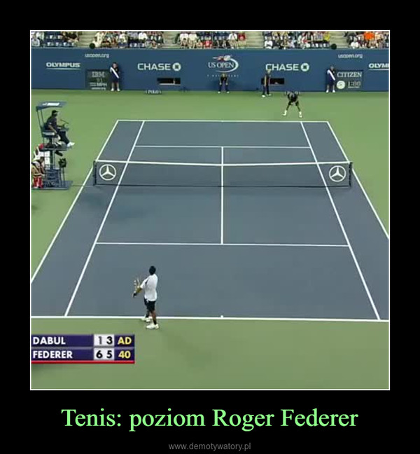 Tenis: poziom Roger Federer –
