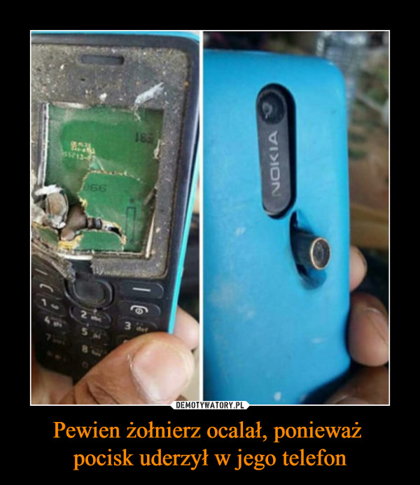 Pewien żołnierz ocalał, ponieważ pocisk uderzył w jego telefon –