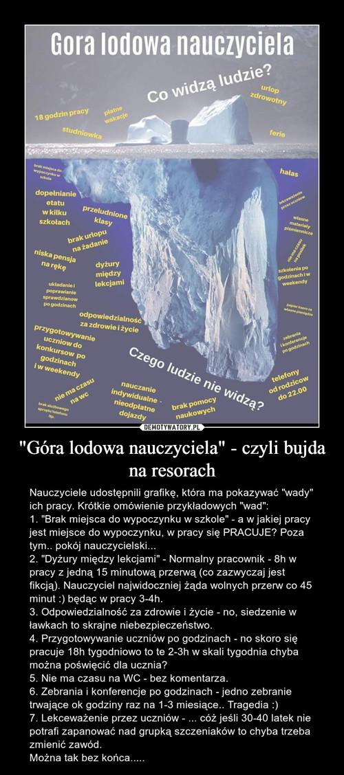 """""""Góra lodowa nauczyciela"""" - czyli bujda na resorach"""