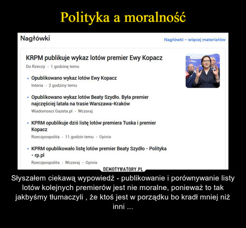 Polityka a moralność