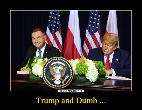 Trump and Dumb ...