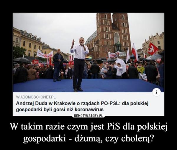 W takim razie czym jest PiS dla polskiej gospodarki - dżumą, czy cholerą? –