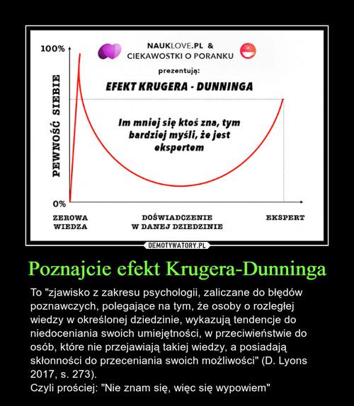 Poznajcie efekt Krugera-Dunninga