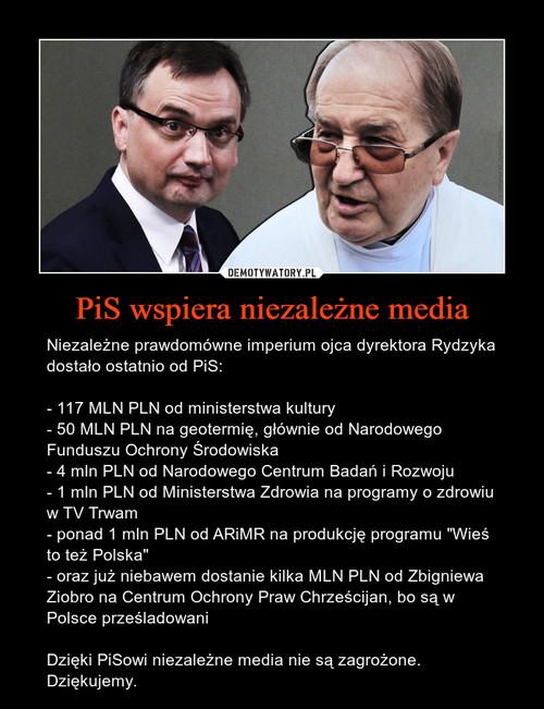 PiS wspiera niezależne media