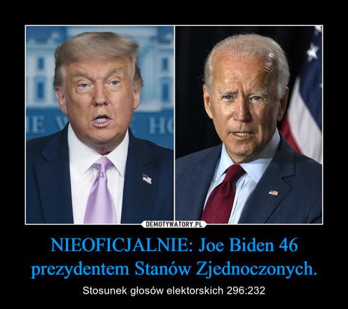 NIEOFICJALNIE: Joe Biden 46 prezydentem Stanów Zjednoczonych.