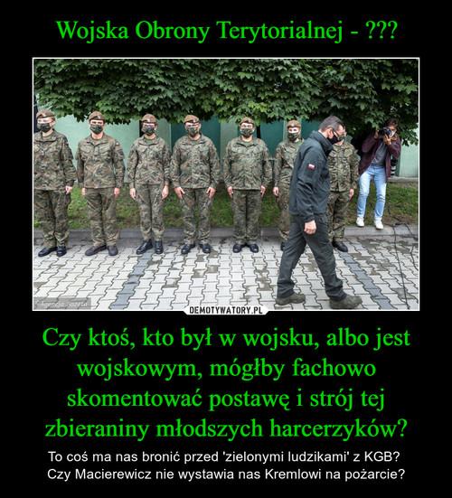 Wojska Obrony Terytorialnej - ??? Czy ktoś, kto był w wojsku, albo jest wojskowym, mógłby fachowo skomentować postawę i strój tej zbieraniny młodszych harcerzyków?