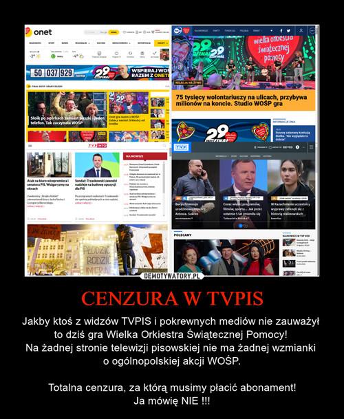 CENZURA W TVPIS