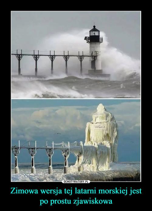 Zimowa wersja tej latarni morskiej jest po prostu zjawiskowa