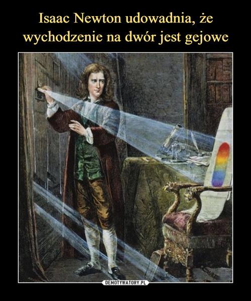Isaac Newton udowadnia, że wychodzenie na dwór jest gejowe