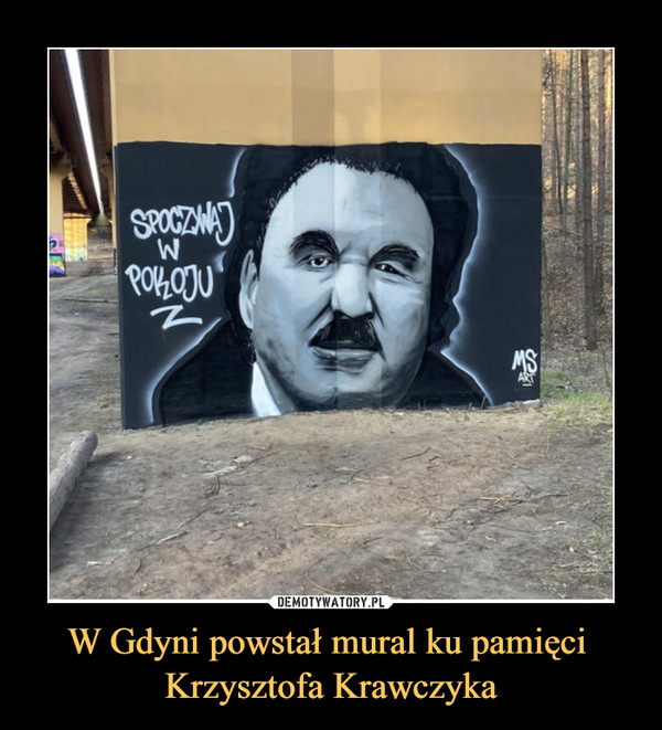 W Gdyni powstał mural ku pamięci Krzysztofa Krawczyka –