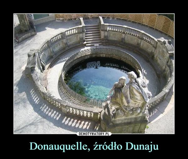 Donauquelle, źródło Dunaju –