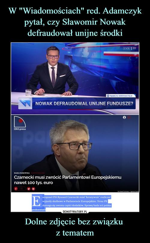 """W """"Wiadomościach"""" red. Adamczyk pytał, czy Sławomir Nowak defraudował unijne środki Dolne zdjęcie bez związku  z tematem"""