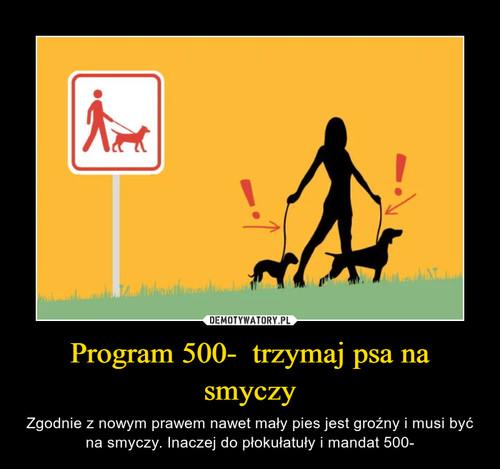 Program 500-  trzymaj psa na smyczy