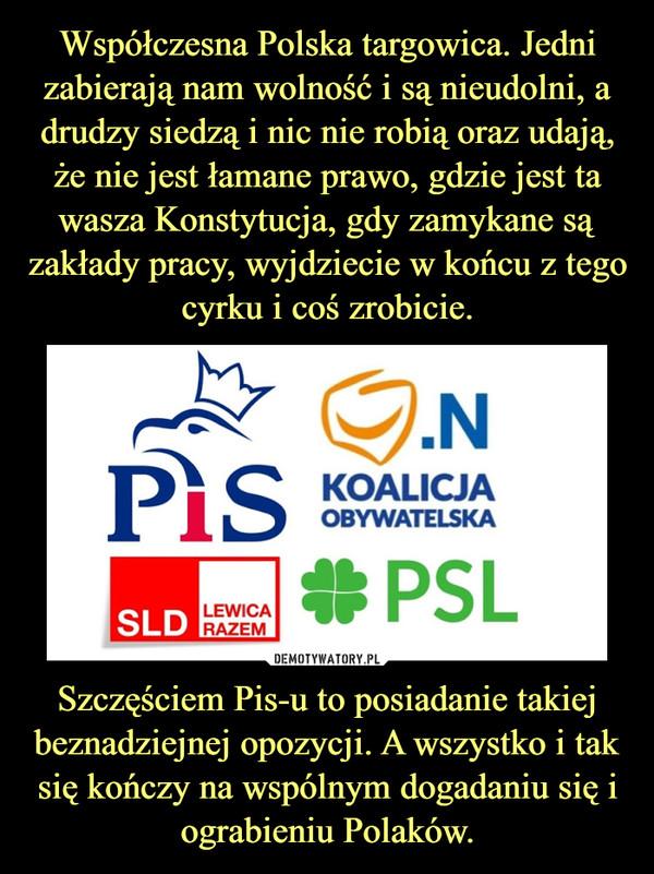 Szczęściem Pis-u to posiadanie takiej beznadziejnej opozycji. A wszystko i tak się kończy na wspólnym dogadaniu się i ograbieniu Polaków. –