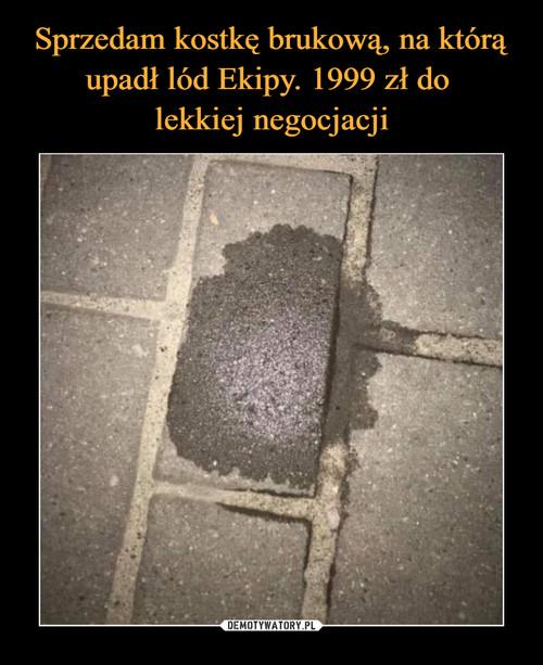 Sprzedam kostkę brukową, na którą upadł lód Ekipy. 1999 zł do  lekkiej negocjacji