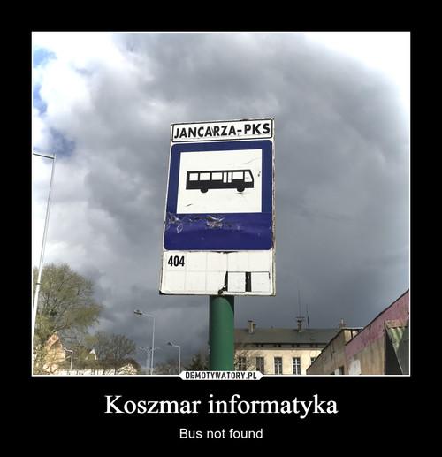 Koszmar informatyka