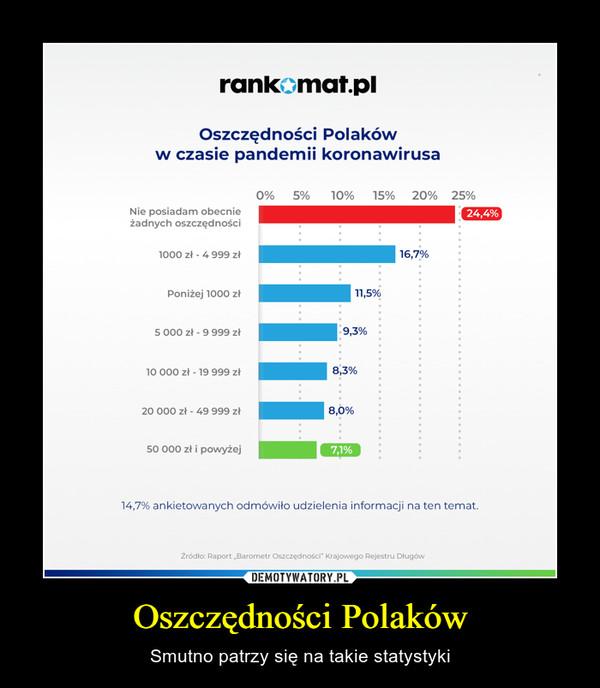 Oszczędności Polaków – Smutno patrzy się na takie statystyki