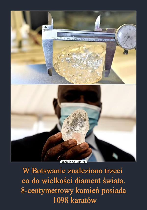 W Botswanie znaleziono trzeci co do wielkości diament świata. 8-centymetrowy kamień posiada 1098 karatów –