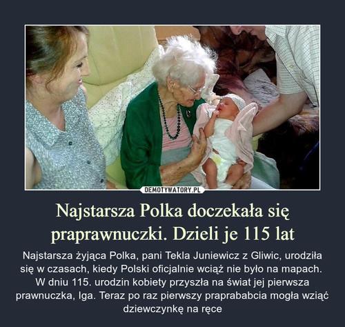 Najstarsza Polka doczekała się praprawnuczki. Dzieli je 115 lat