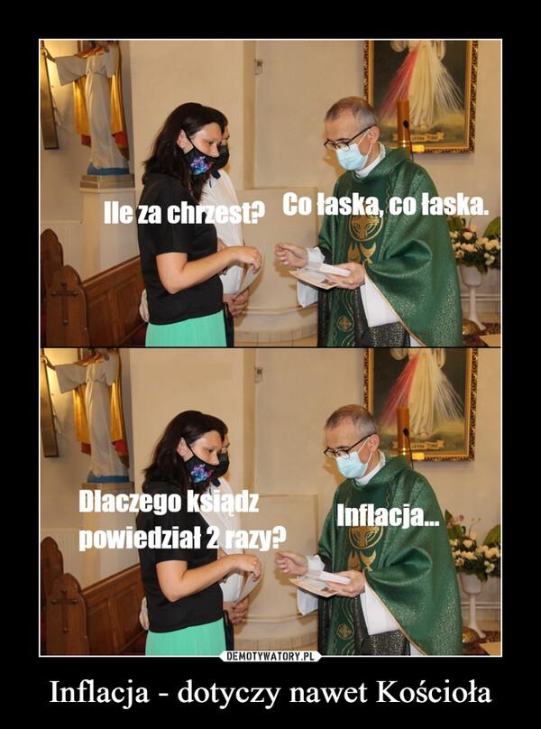 Inflacja - dotyczy nawet Kościoła –